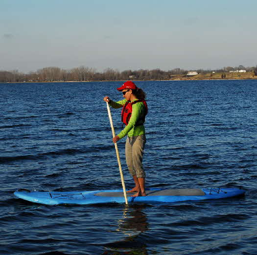 On the water with the new stand up paddleboard the Inukshuk